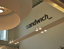 Sandwich outlet shop design